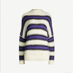maje striped knitted jumper sweater size 2